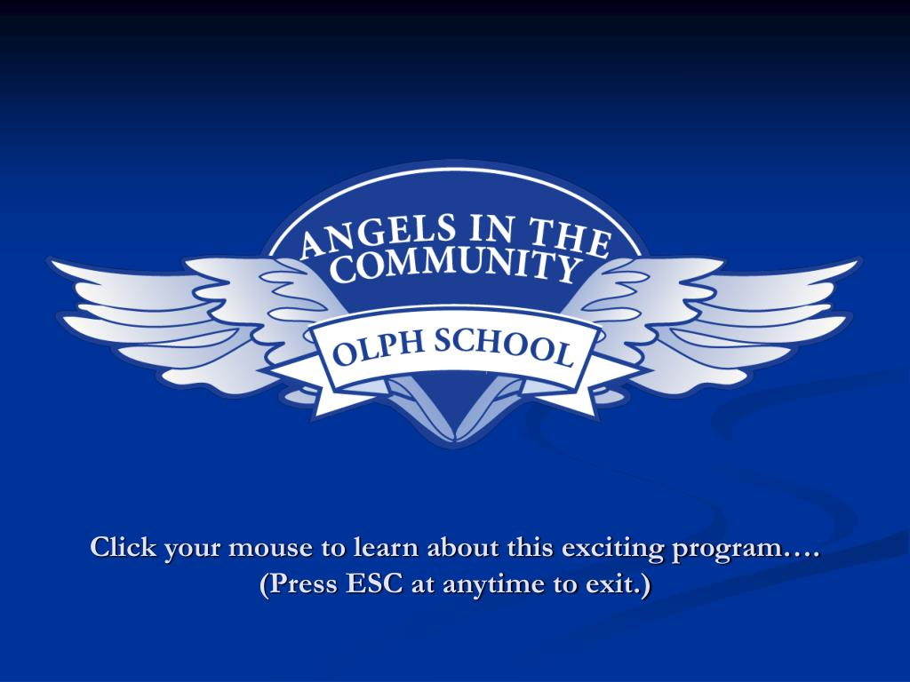 click your mouse to learn about this exciting program press esc at anytime to exit l.