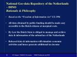 national geo data repository of the netherlands dino rationale philosophy