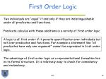 first order logic32