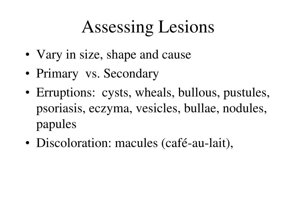 Assessing Lesions