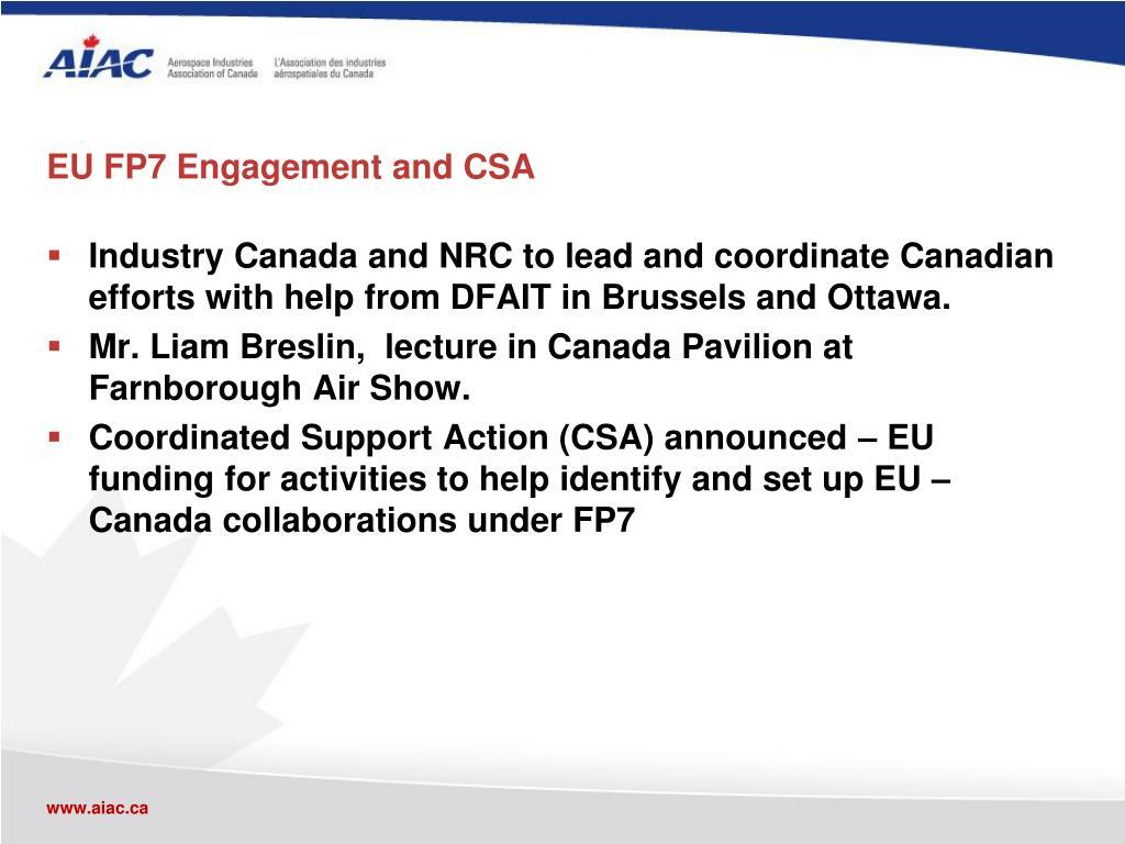 EU FP7 Engagement and CSA