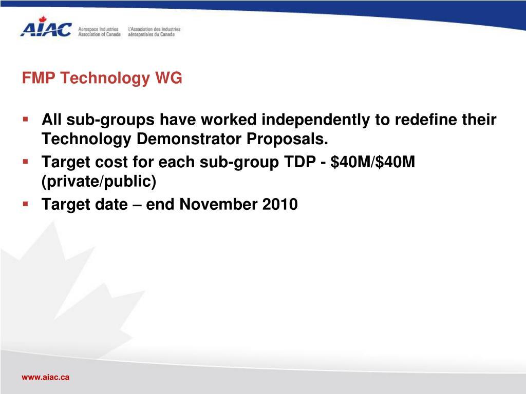 FMP Technology WG