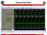analog data write