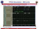 fpga simulation imu write