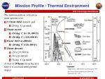 mission profile thermal environment