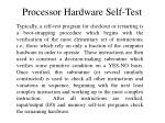 processor hardware self test