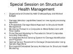 special session on structural health management