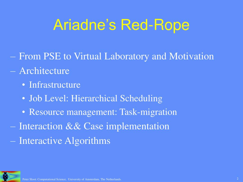 Ariadne's Red-Rope