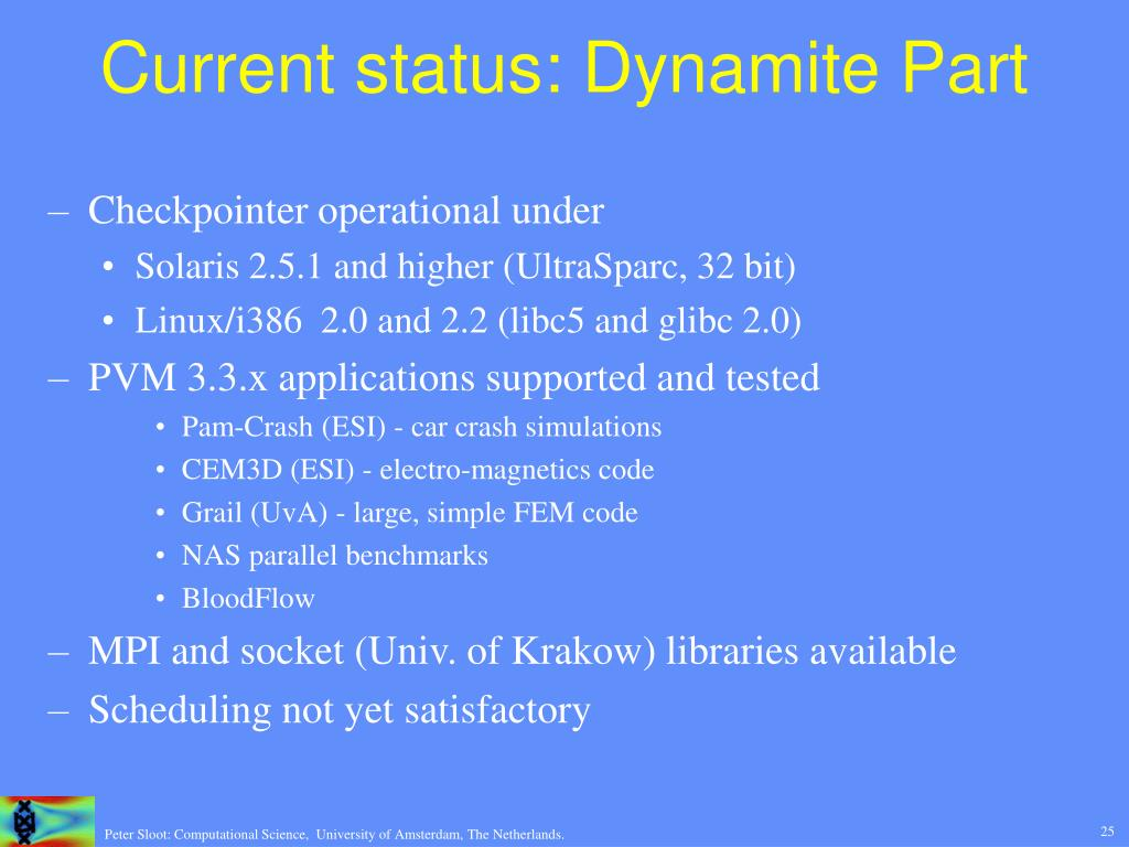 Current status: Dynamite Part