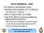 aelw airspace adiz