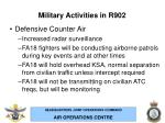 military activities in r902