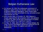belgian euthanasia law