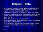 belgium data18
