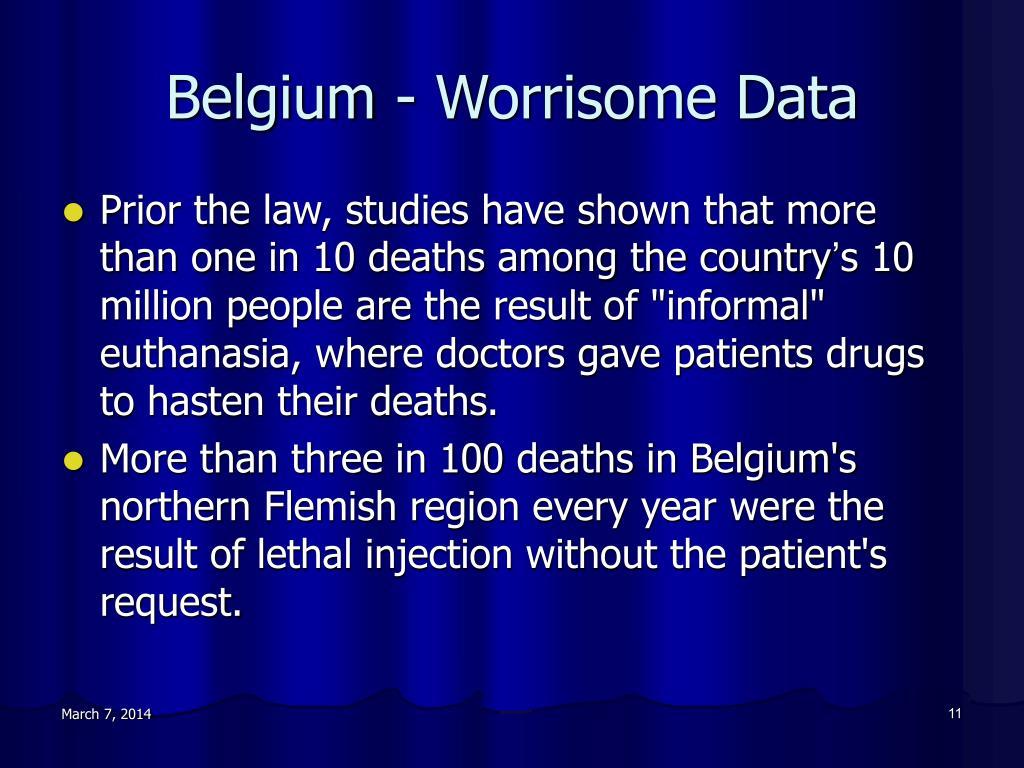 Belgium - Worrisome Data