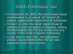 dutch euthanasia law