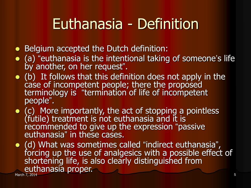 Euthanasia - Definition
