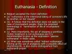 euthanasia definition