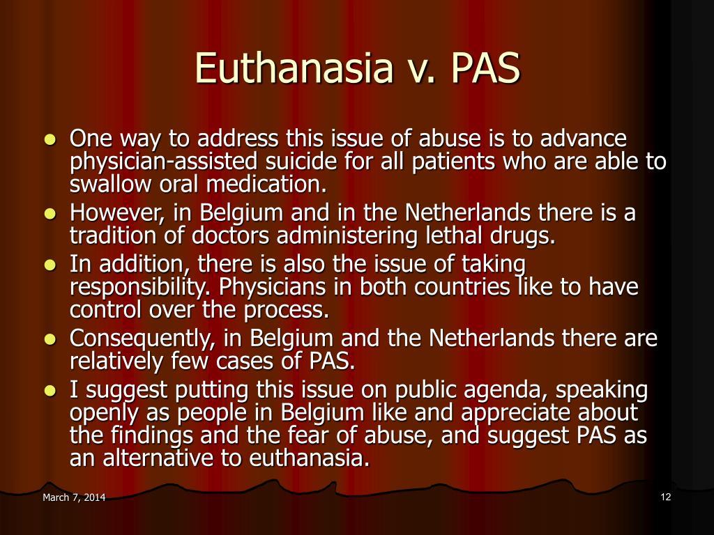 Euthanasia v. PAS