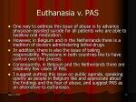 euthanasia v pas