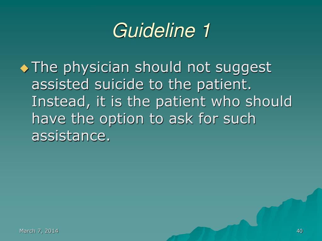 Guideline 1