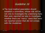 guideline 16