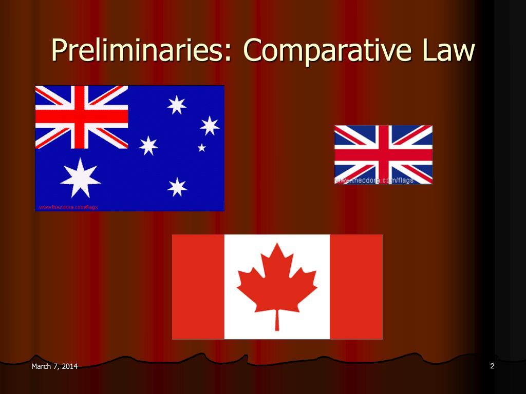 Preliminaries: Comparative Law