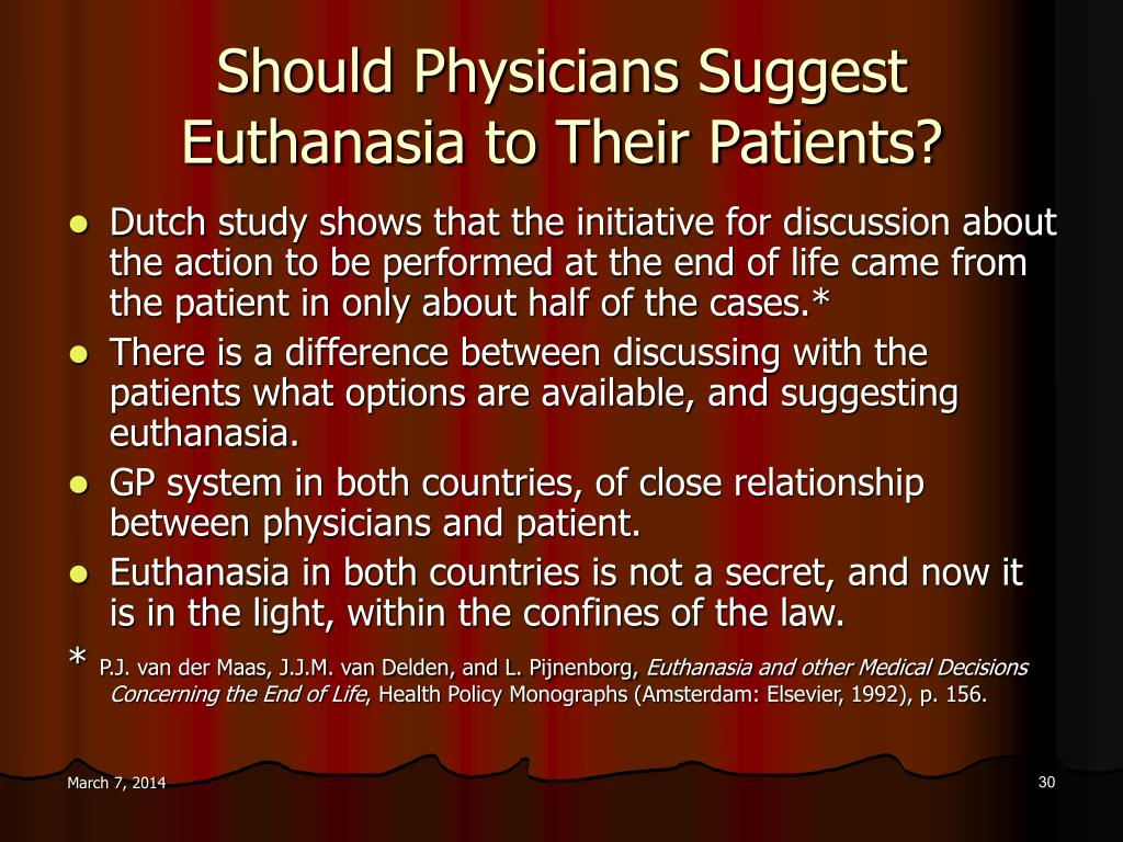 Should Physicians Suggest Euthanasia to Their Patients?