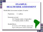 example health risk assessment20