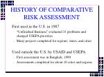 history of comparative risk assessment