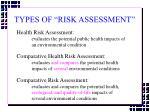 types of risk assessment