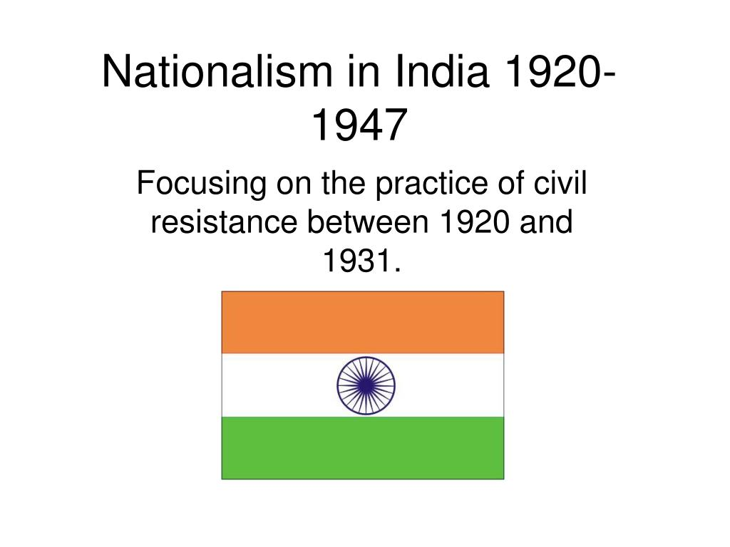 nationalism in india 1920 1947 l.