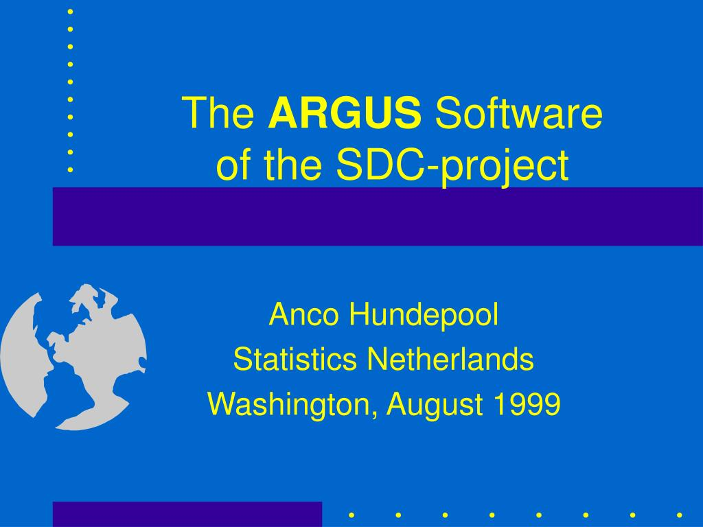the argus software of the sdc project l.