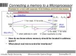 connecting a memory to a microprocessor
