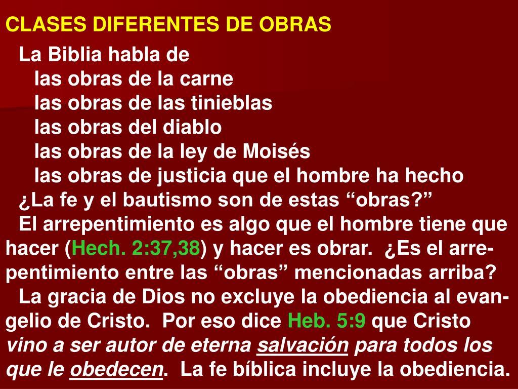 CLASES DIFERENTES DE OBRAS