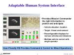 adaptable human system interface