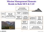 mission management elements reside in both mcs uav