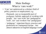 main findings what is care work12