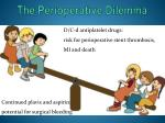 the perioperative dilemma