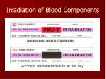 irradiation of blood components57