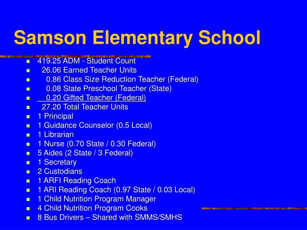 Samson Elementary School
