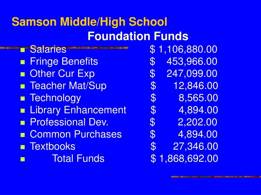 Samson Middle/High School