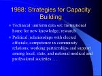 1988 strategies for capacity building