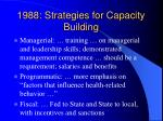 1988 strategies for capacity building26