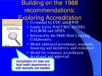 building on the 1988 recommendations exploring accreditation