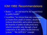 iom 1988 recommendations
