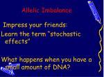 allelic imbalance