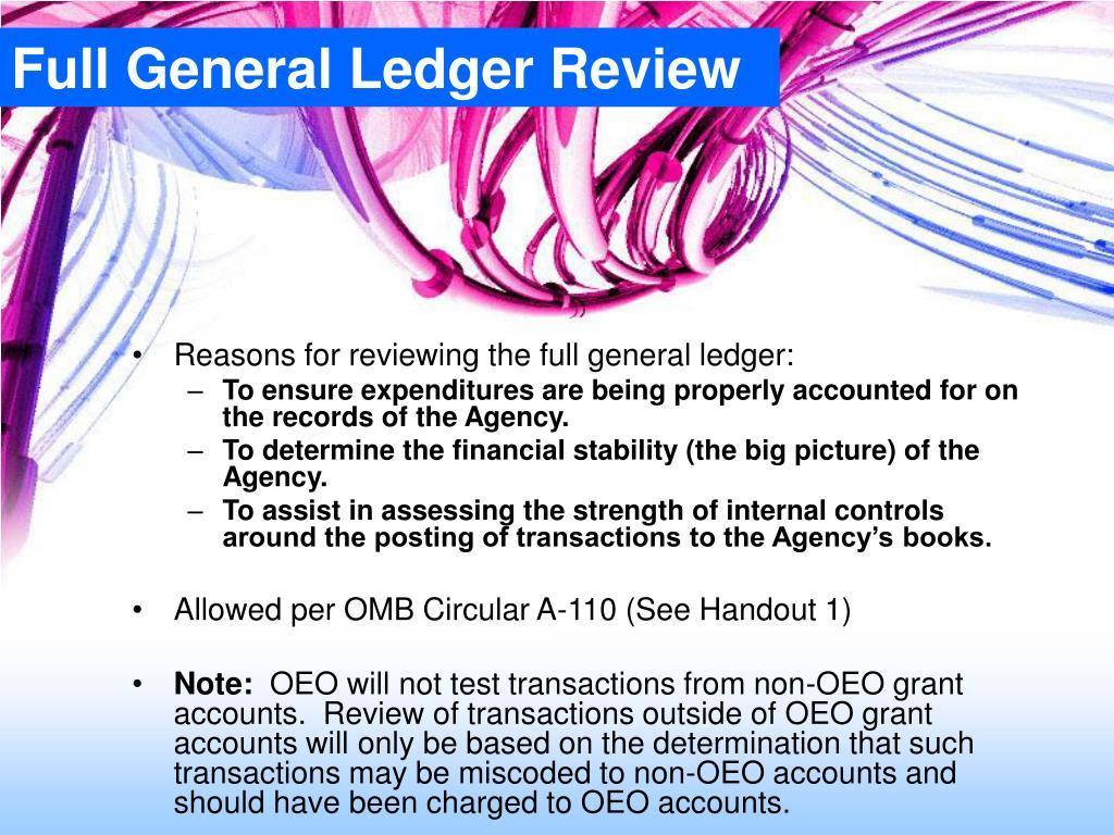 Full General Ledger Review
