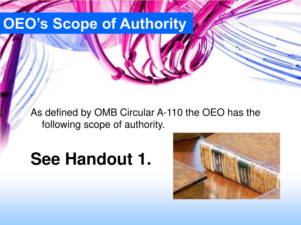OEO's Scope of Authority