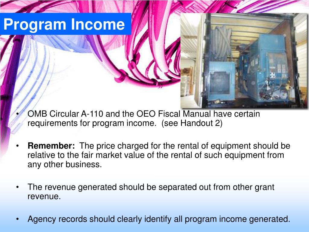 Program Income