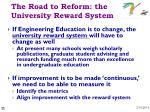 the road to reform the university reward system